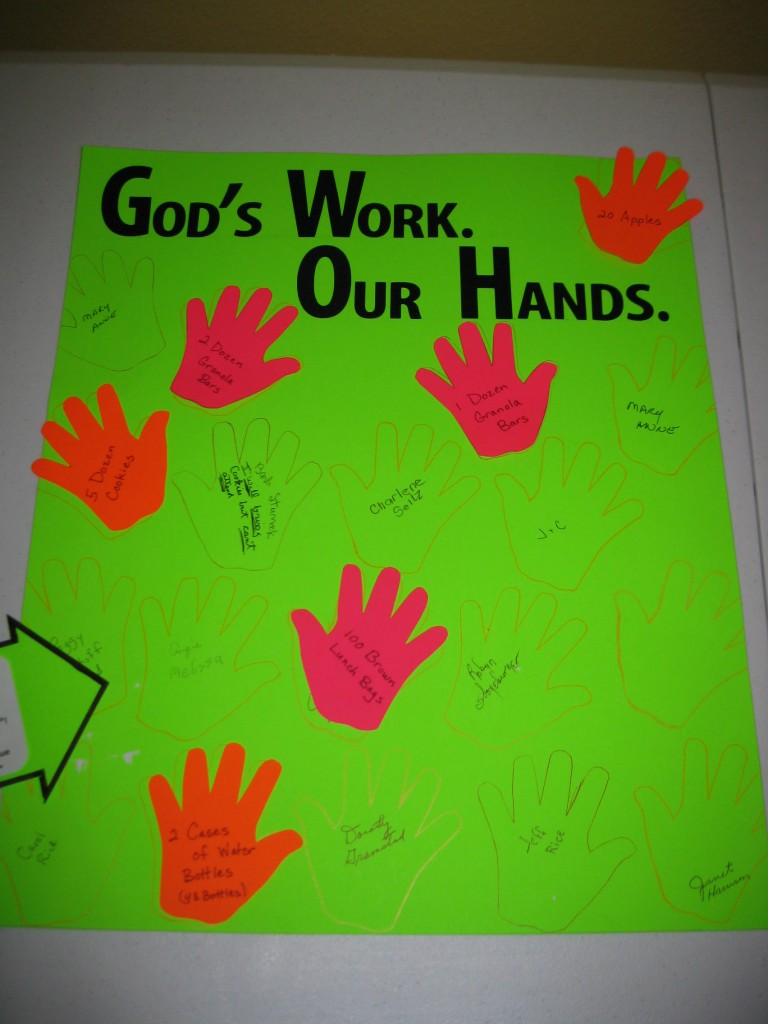 God's work-Our Hands 9.20.15