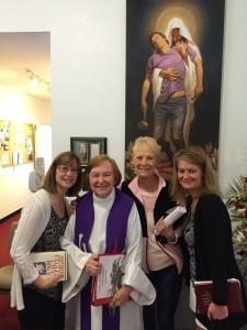Pauline & her daughters w/Pastor Jen