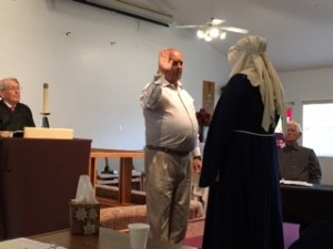 3.16.16 Swearing in Mary(mother of Jesus) by bailiff Tom