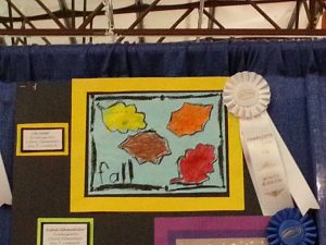 2.3.17 Lilyin won a ribbon for her art @ County Fair