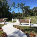 03.07.19 New benches in Memorial Garden